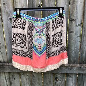 Flying Tomato boho festival skirt beautiful! S